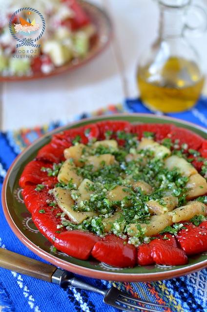 Sałatka z pieczonej papryki, Baked pepper salad, Салата от чушки