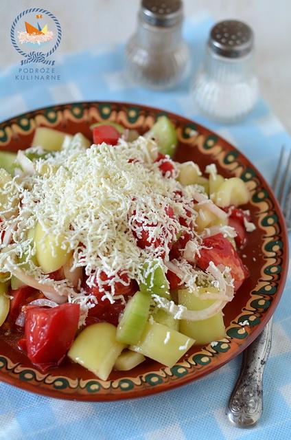 Sałata szopska, Shopska salad, Шопска салата