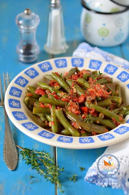 Fasolka szparagowa po grecku, Greek style asparagus bean