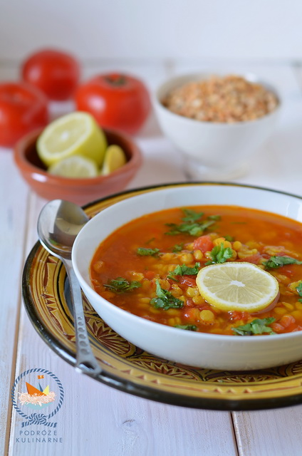 Dal z grochu i pomidorów, Pea and tomato soup