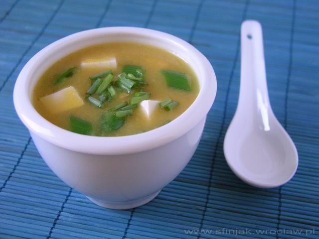 Zupa miso z dynią, Pumpkin miso soup
