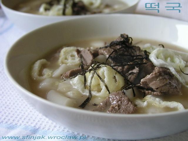 Podróże Kulinarne Tteokguk Koreańska Zupa Noworoczna