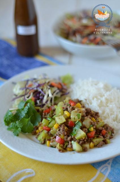 Picadillo z chayote i kukurydzy, Chayote and corn picadillo, Picadillo de chayote y maiz