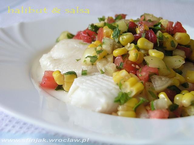 Salsa z pomidorów, kukurydzy i tomatillos