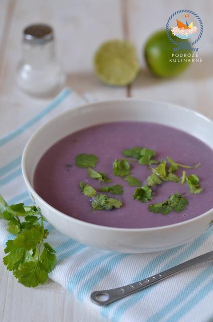 Peruwiańska zupa z fioletowych ziemniaków, Peruvian purple potato soup