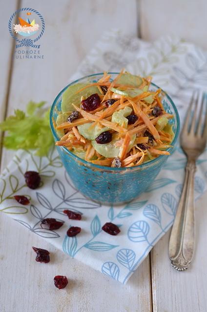 Surówka dyniowa z żurawiną, Pumpkin slaw with cranberries
