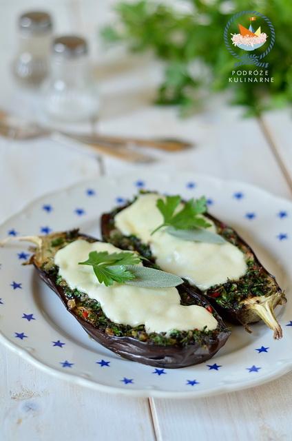 Bakłażany zapiekane z ziołami, Eggplant baked with herbs