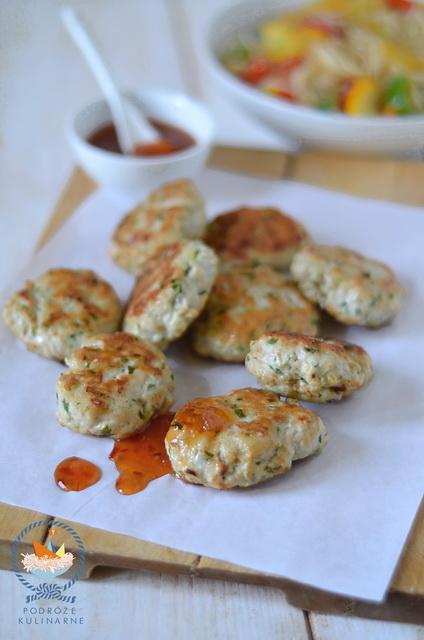 Kotleciki drobiowe z imbirem i kolendrą, Gingered chicken patties