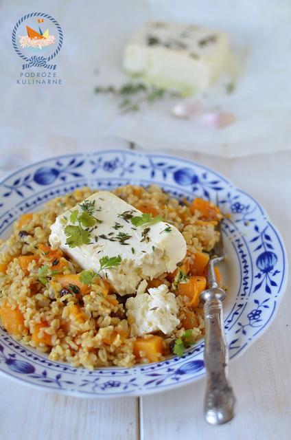 Pomarańczowo-dyniowe tabbouleh z ziołową fetą, Orange-pumpkin tabbouleh with herb feta