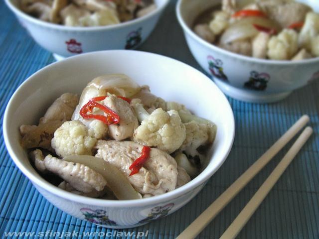 Wietnamski kurczak z kalafiorem, Vietnamese chicken with cauliflower