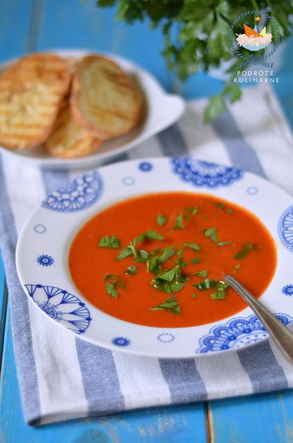 Kremowa zupa z pieczonych pomidorów, Rosted tomatosoup