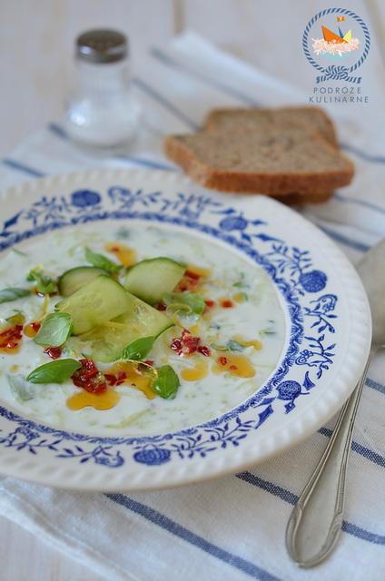 Chłodnik ogórkowy, Cucumber cold soup
