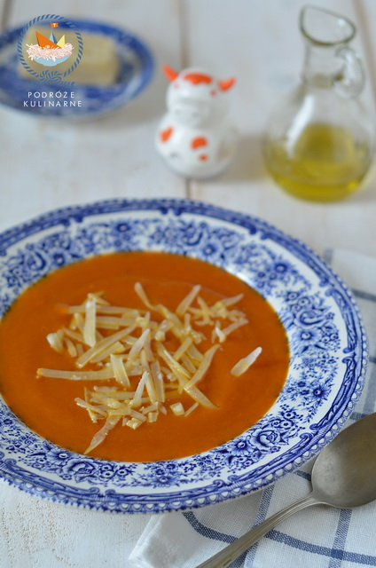 Zupa z dyni z parmezanem, Pumpkin soup with parmesan cheese
