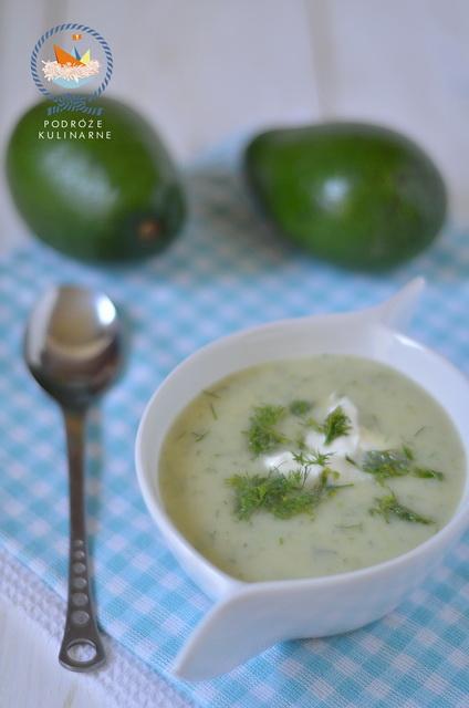 Zupa ogórkowa z awokado, Cucumber and avocado soup