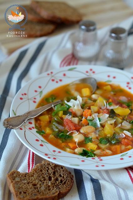 Toskańska zupa fasolowa, Tuscan bean soup